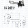 Анкерні затискачі PIN 2x16-35 та PIN 4x16-35